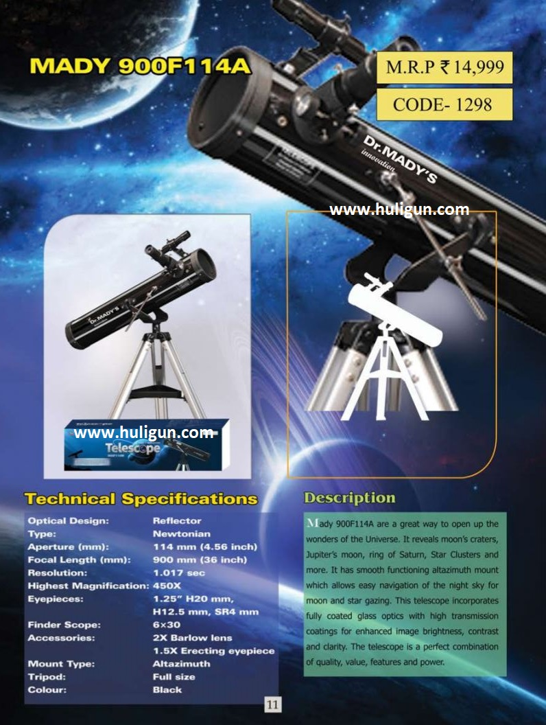 Dr Mady 114 AZ Reflector Telescope Buy Online India