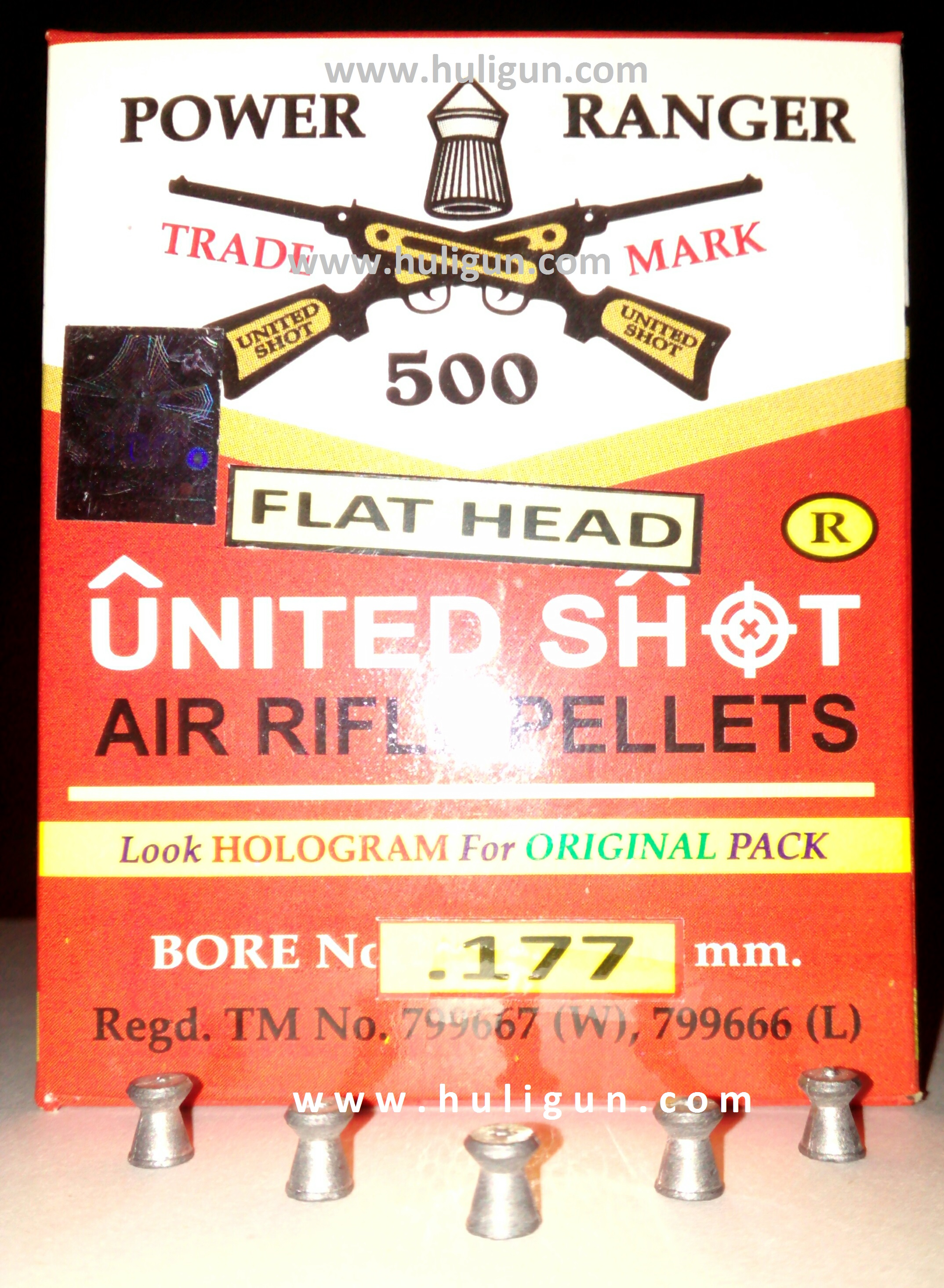 United Shot Flat Head Wadcutter Pellets for Air Pistols Rifles Airguns Buy Online India